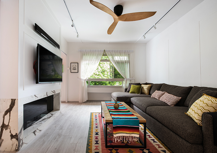 Not Forgetting A Highlight Feature The Wooden Ceiling Fan To Add Scandinavian Element Into Interior